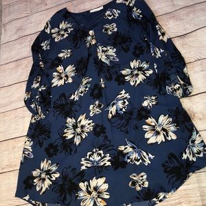 Lush Floral Tunic\dress size Small